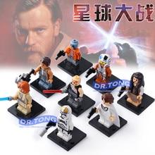 DR.TONG 8PCS/LOT X0144 Star Wars Trooper Cunner Zander Ponda Baba Anakin Skywalker Building Blocks Toys Bricks Child Gifts