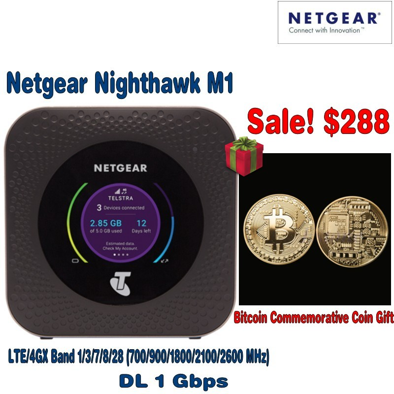 Unlocked Netgear Nighthawk M1 MR1100 WiFi Router LTE 4G X Gigabit Mobile Hotspot plus Free gift unlocked netgear nighthawk m1 4g 150mbps wireless wifi router with antenna 4gx gigabit lte mobile router pk b315 b310