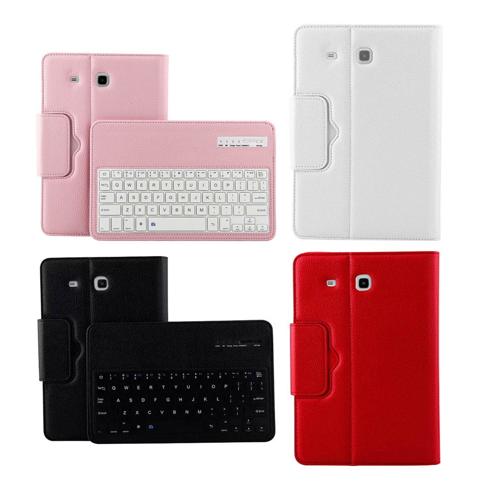 For Samsung GALAXY Tab E 9.6 T560 T561 Magnetic Removable Wireless Bluetooth Keyboard Portfolio Folio PU Leather Case Cover removable bluetooth keyboard pu leather cover case