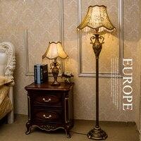 Resin 110V 220V Bedroom Floor Standing Lights E27 Led Floor Lamps Home Retro Trophy Shape Nordic Lamp Floor European Style Light