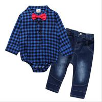 Newborn Baby Boy Clothes Gentleman Shirt Romper Casual Pants Strap Red Bow Baby Boy Fashion Clothing