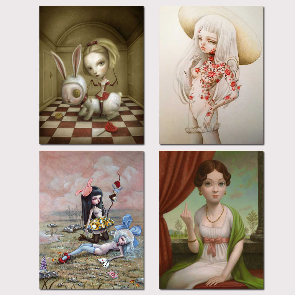 Mark Ryden Mark Ryde 1 Panel Abstract Wall Art Oil Painting Poster Canvas Painting Print for Living Room Home Decor 22