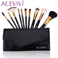 HOT Professional 10 Pcs Makeup Brush Set Tools Make Up Toiletry Kit 63
