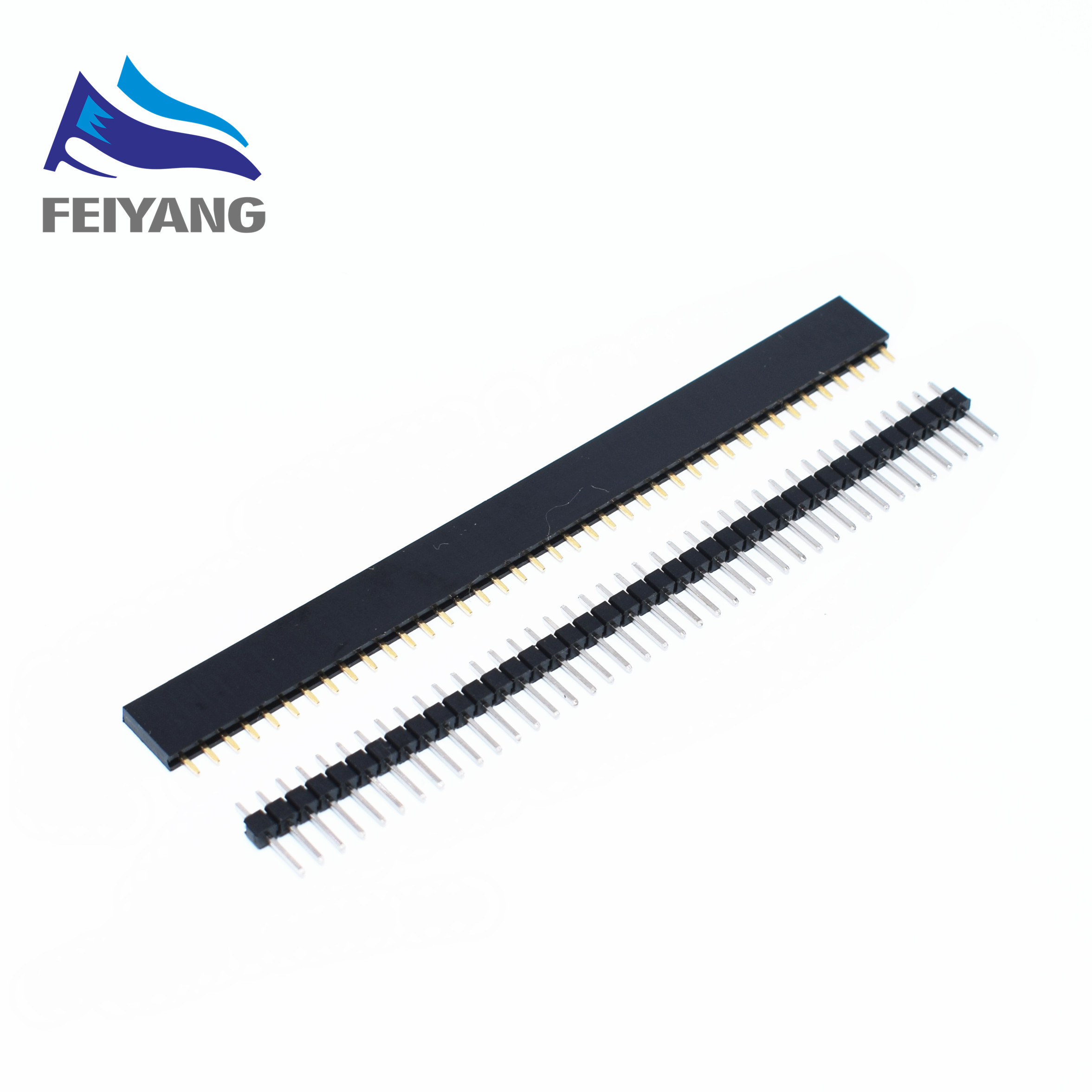 40p Male Single Row Each 10pcs New In Tock High Quality Hot Sale Danmu+danpai Electronic Components & Supplies Integrated Circuits Beautiful 20pcs/lot 40 Pin 2.54mm Female Single Row