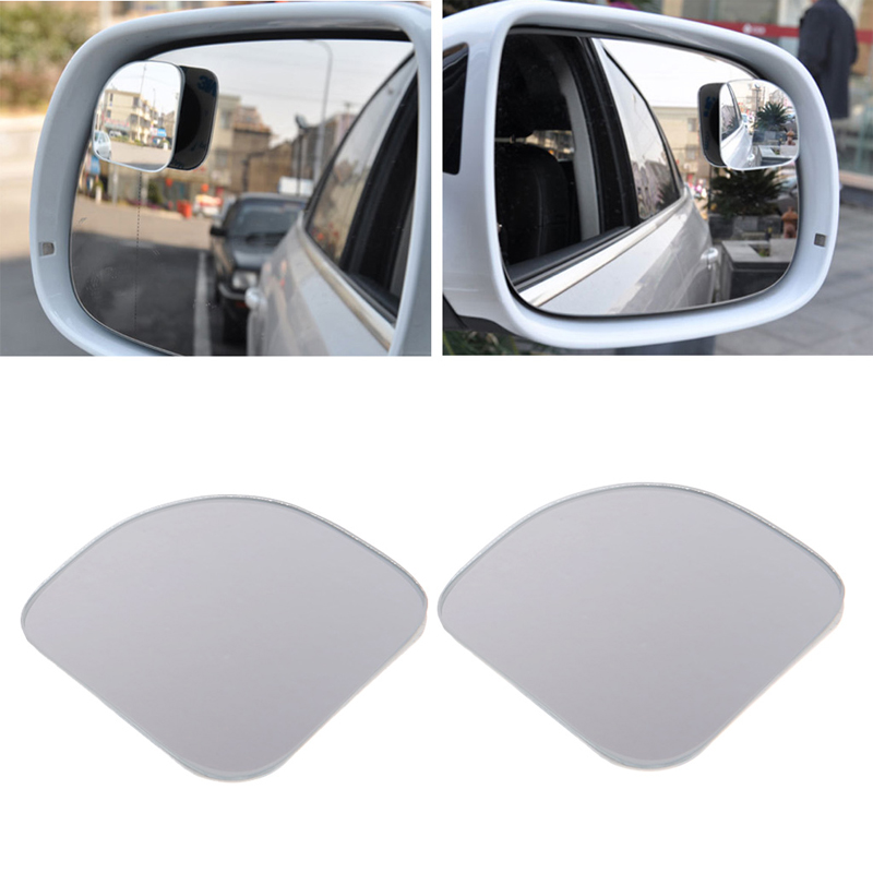 1Pair Car Rearview Mirror Safety Blind Spot Mirror 360 Degree Adjustable Wide Angle