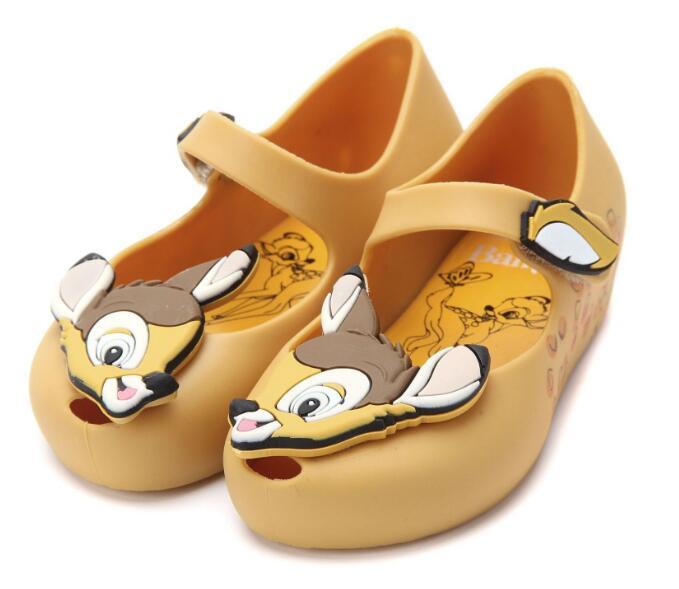 Sandal Kids Dressing-Shoes Non-Slip Jelly-Fish-Mouth Ultragirl Mini Bambi 12pairs 13-18cm