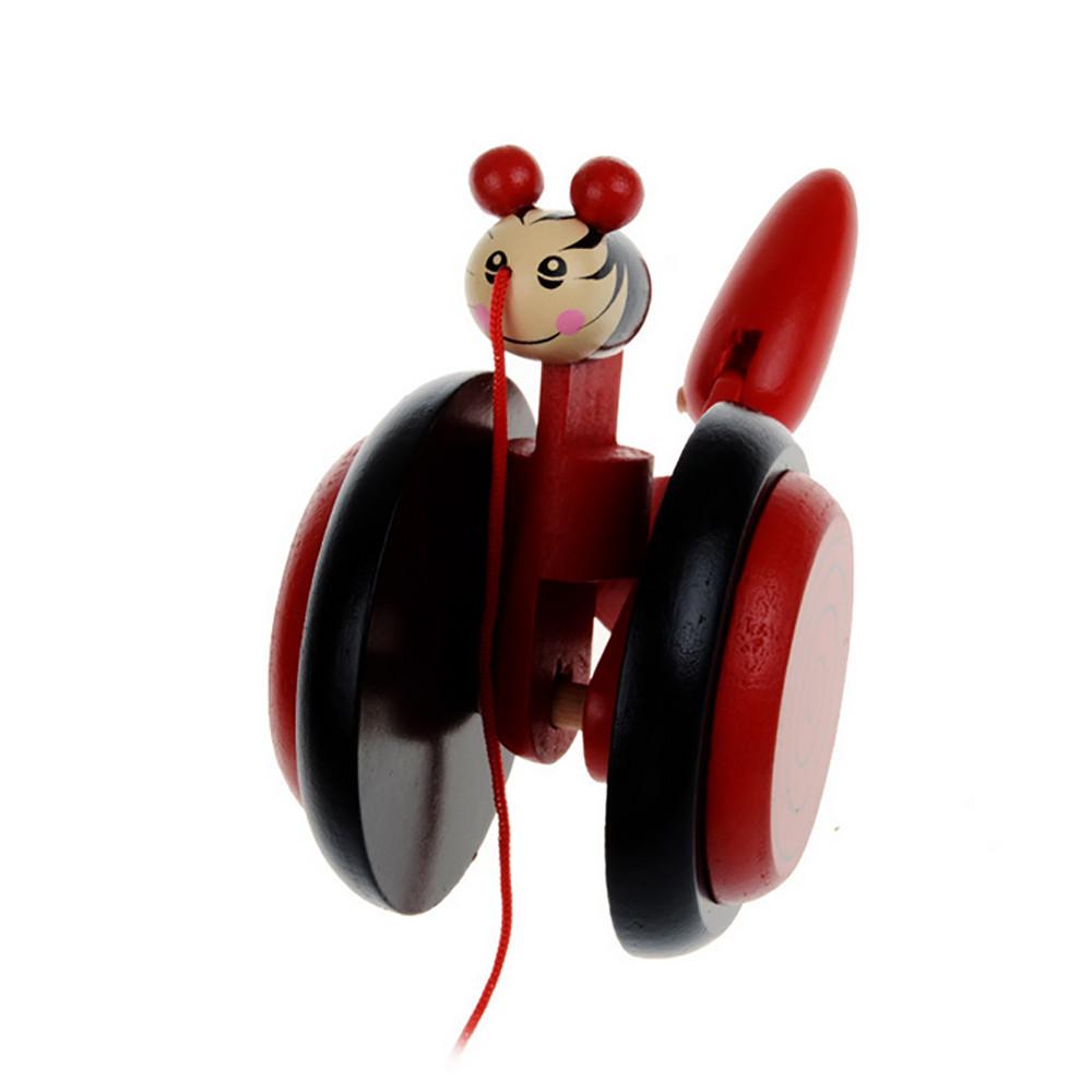 madera animal de la historieta caracol creativo juguete educativo juego de ruedas de coche para nios