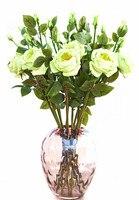คราม-บิ๊กโฟมสีเขียวโรสสัมผัสจริงกุหลาบดอกไม้ประดิษฐ์ดอกไม้งานแต่งงานดอกรักดอกโบตั๋นพรร...