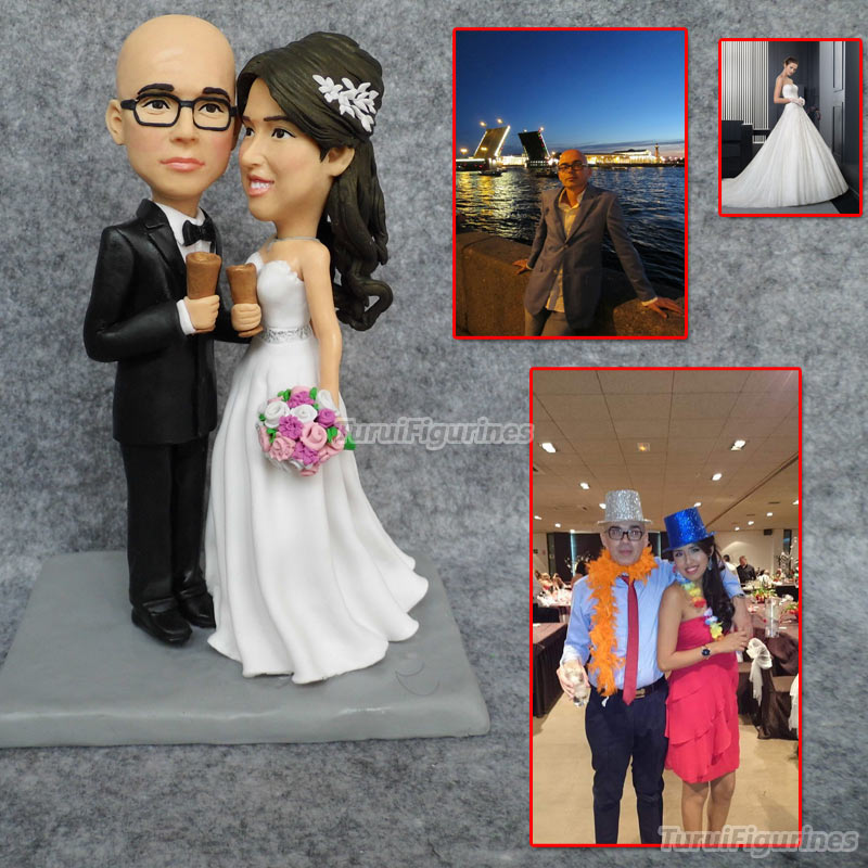 Personalized Wedding Cake Topper customize from photo of couple figurines gift for wedding toy present custom wedding decoration