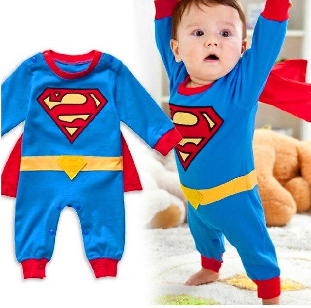 Superman Romper do bebê, traje do Natal, novo 2016, recém nascido, bebê menino romper, crianças superman bodysuit recém-nascidos, bebê crianças primavera geral