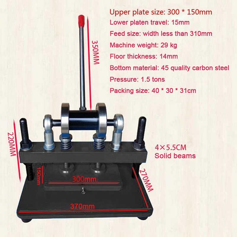 150 mm Supérieur Plaque Taille Pour Tissu Manuel Cuir Machine de découpe 300