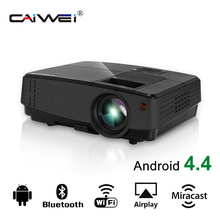 CAIWEI Portable LCD Projector Home Theater LED Beamer Movie TV Game Support Full HD 1080p for Smartphone PC Tablet Multimedia