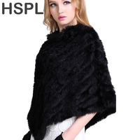 2015 Autumn Hot Sale Knitted Natural Fur Shawl Fashion Rabbit Fur Cape Shawl Genuine Rabbit Fur