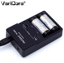 VariCore TR-2000 Carregador de Bateria e Carga Rápida 3.0 para 18650 26650 AA AAA e QC 3.0/USB 5 V Dispositivos Móveis.