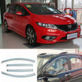 4pcs New Smoked Clear Window Vent Shade Visor Wind Deflectors For Honda Jed