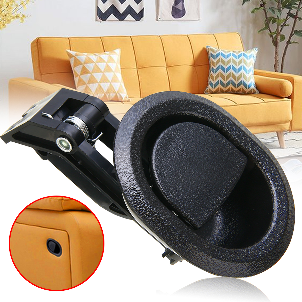 1pc Hard Plastic Release Lever Handle Black Cabinet Pulls Replacement Sofa Recliner Release Pull Handle For Oval Recliner Chair 2 pcs set durable metal handle recliner chair sofa couch release lever replacement pull handle part black suite recliner