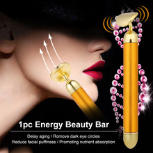 1pc Energy Beauty Bar 24K Gilt 6000r/min Micro-vibrations Ficial Massager Skin Firming Remove Wrinkle Face Massager Skin Care