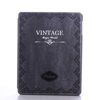 Solque PU Leather Smart Cover For IPad 4 Tablet Case 9 7 Inch Retro Vintage Ultra
