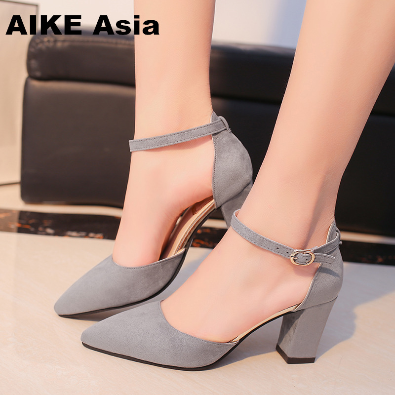 2019 Sandalias Femeninas High Heels Autumn Flock Pointed Sandals Sexy Female Summer Shoes Mujer  Zapatos Mujer Pumps 2019 Sandalias Femeninas High Heels Autumn Flock Pointed Sandals Sexy Female Summer Shoes Mujer  Zapatos Mujer Pumps
