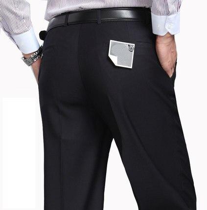 Men Business Casual Loose Long Pants Plus Size Black Blue Grey Male Super Large Comfortable Trousers Plus Size 29-50 52 54 56