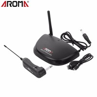 Rechargeable Wireless Audio Transmitter UHF Digital Transmitter And Receiver 20m Transmission Aroma ARU 02 For Guitar