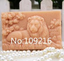 wholesale!!!1pcs Lion (zx179) Food Grade Silicone Handmade Soap Mold Crafts DIY Mould