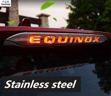 Нержавеющая сталь хвост лампы стоп-сигнала крышка лампы литья Тюнинг автомобилей Аксессуары для 2018 2017 CHEVROLET EQUINOX стикер
