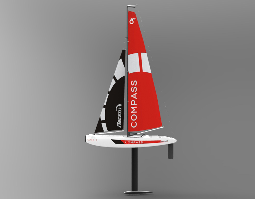 VolantexRC Compass RG65 Class Competition Sailboat 650MM-in