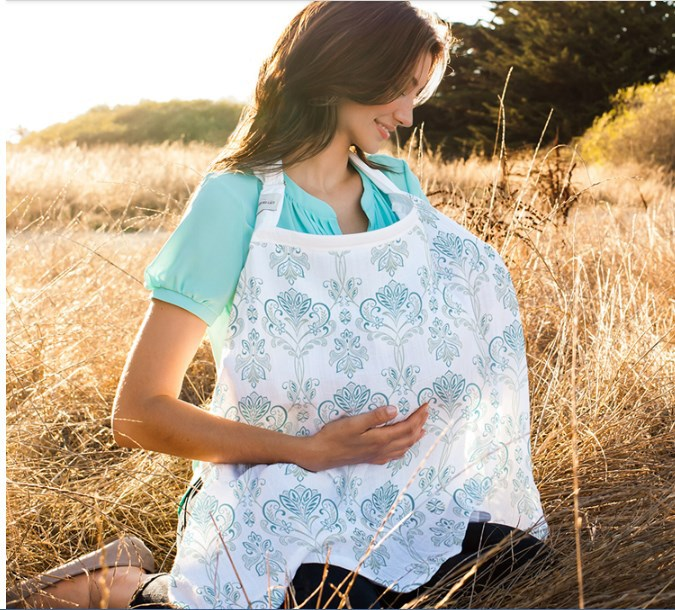 Fashion Breastfeeding Cover Nursing Covers Sweet Shawl Breast Feeding Covers Flower Printed Nursing Covers For Feeding Baby Life