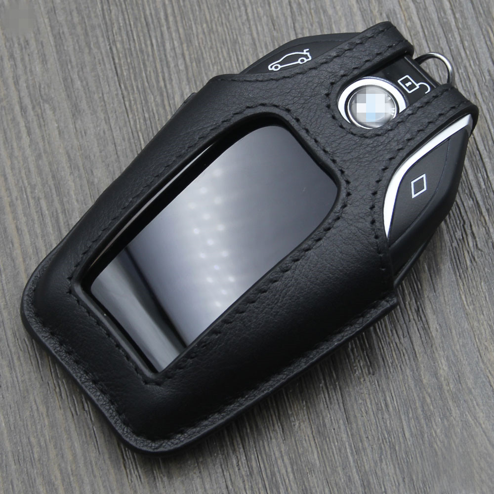 Genuine Leather Car Key Case Cover For Bmw 2017 New 7 Series 730Li 740Li 750Li 760Li Protective Film Gift In From Automobiles