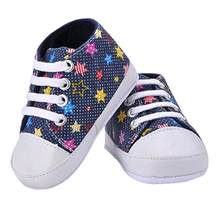Fashion Girl's Boy's Rainbow Canvas Shoes Soft Prewalkers Infant Anti-Slip Baby Shoes(China)