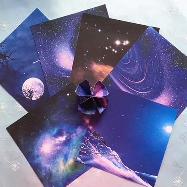 Diy Sternenhimmel 58 stücke lucky papier farbverlauf floral sternenhimmel
