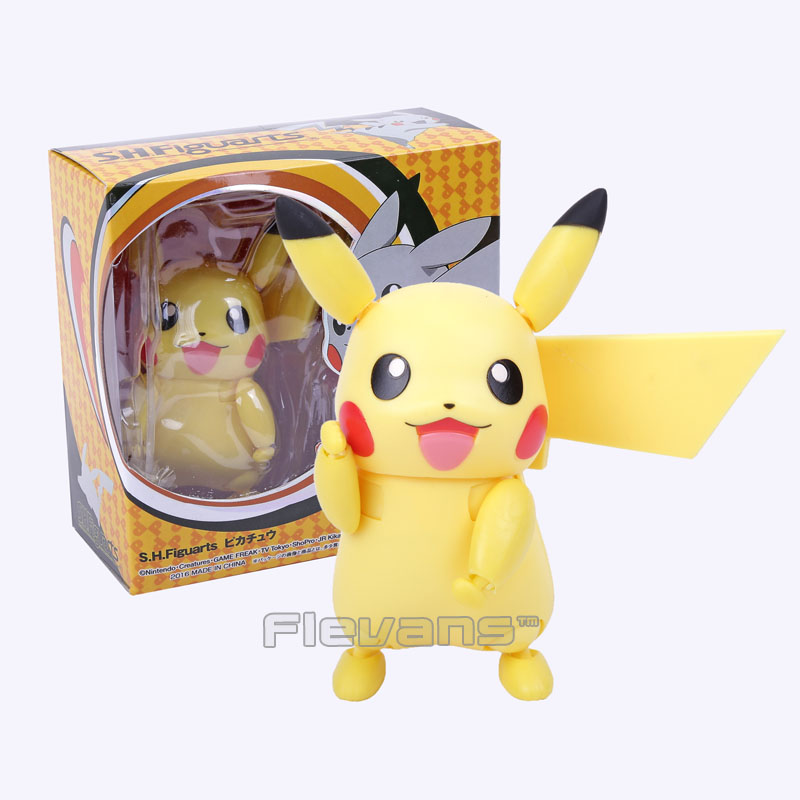 SHF S.H.Figuarts Pikachu PVC Action Figure Collectible Model Toy 10cm  games illidan 14 pvc action figure collectible model toy 4 10cm kt2242