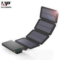 ALLPOWERS 10000 mAh banco de energía Solar a prueba de agua Cargador Solar batería externa paquete de respaldo para tabletas de teléfono celular iphone Samsung