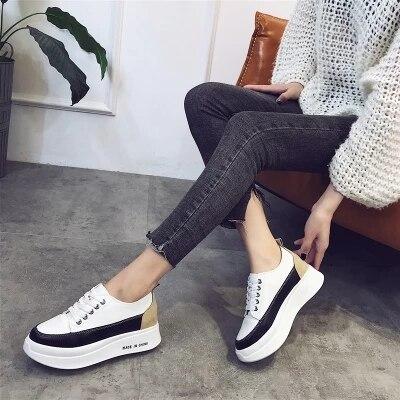 Version 2018 Blanc Femme 2 Fond Dentelle Ronde 1 Sauvage La Coréenne Printemps Chaussures Étudiants De Nouvelle Occasionnels Épais Gâteau qIwnBx01