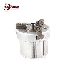 SMC pneumatic three-jaw center through hole gripper finger air claw mhsh3-16d /20D 25D 32D 40D 50D 63D 80D 100D 125D cylinder цены онлайн