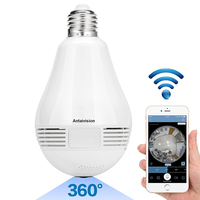 2018 NEW 960P Bulb Light Wireless IP Camera Wi Fi FishEye 360 Degree Mini CCTV VR