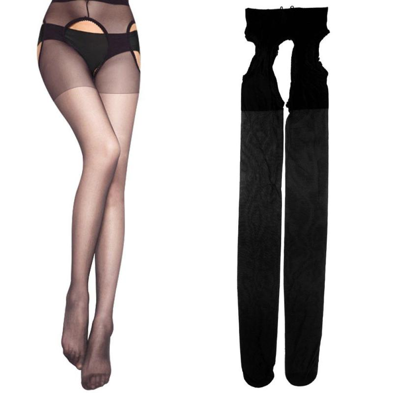 1PC Sexy Lingerie Woman Lenceria Underwear Body Stocking Pantyhose Suspenders Erotic Sexy Pantyhose Charm Lace Stockings Black