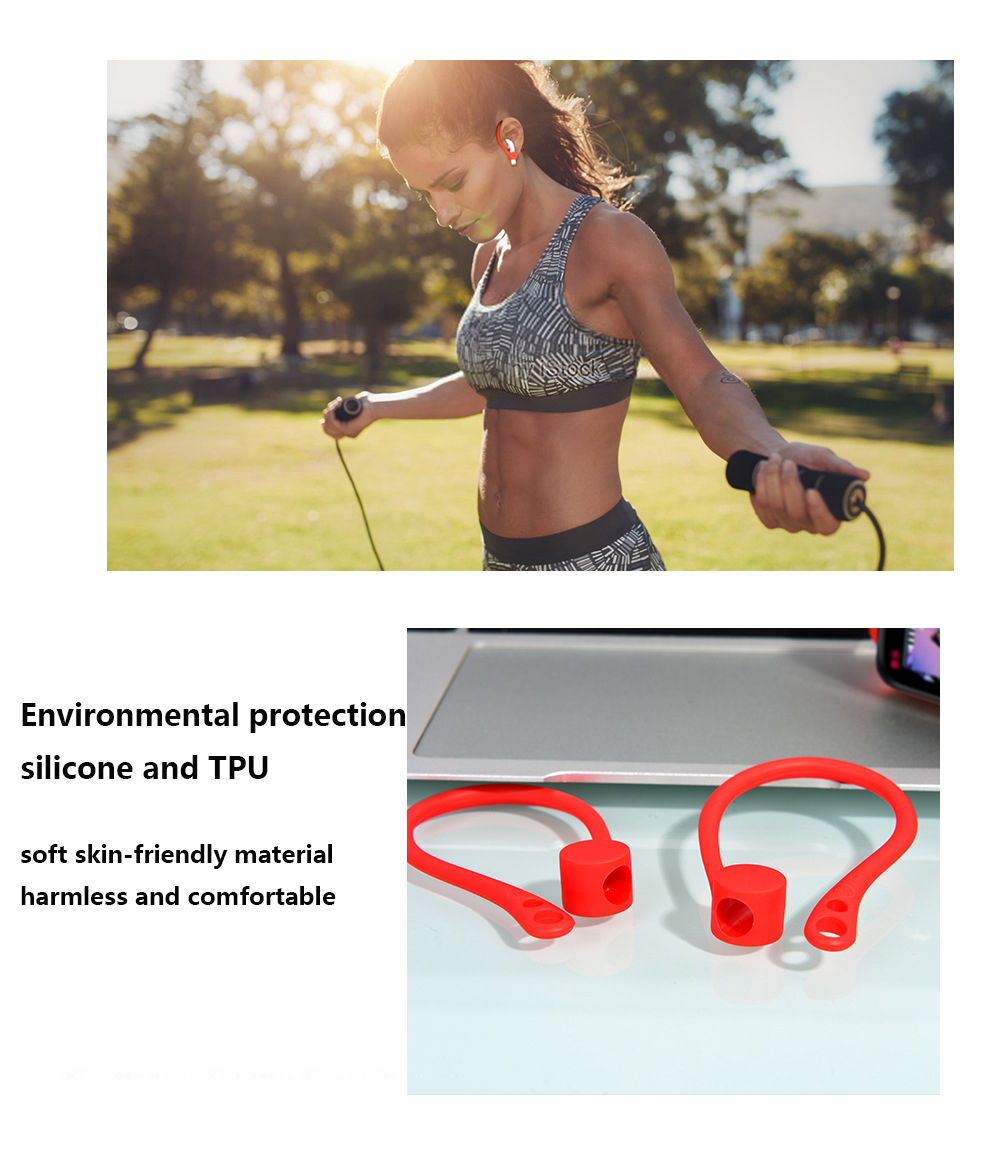 For Apple AirPods Case Silicone Wireless Earphone AirPods Protective Accessories Protector Earhooks Sports Anti-lost Ear Hook-2