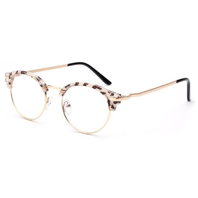 Fashion Wanita Kacamata Baru Kacamata Kaca Polos Kacamata Logam + Plastik  Lingkaran Bingkai Kacamata Optik GP25 bfededa2fa