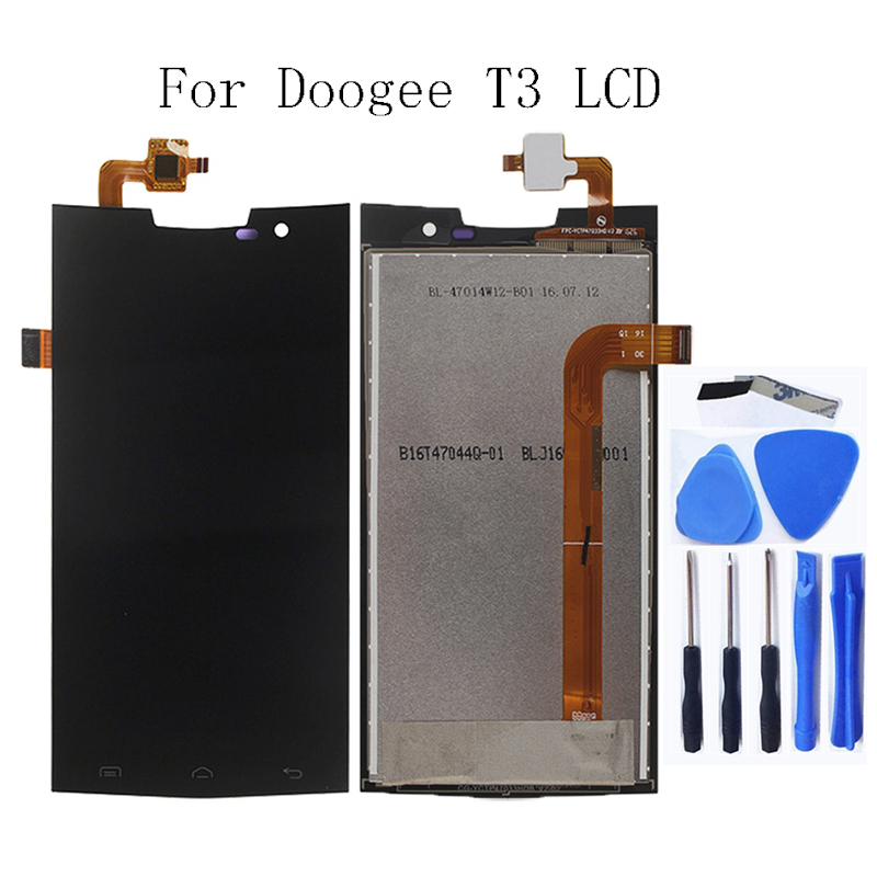 For Doogee T3 LCD Monitor Touch Screen Digitizer Repair Parts for Display Replacement Free Tool Shipping