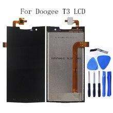 Doogee t3 lcd 디스플레이 + 터치 스크린 유리 디지타이저 교체 액세서리 doogee t3 lcd 디스플레이 수리 키트 용 4.7 인치