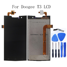 цены на For Doogee T3 LCD Monitor Touch Screen Digitizer Repair Parts for Doogee T3 LCD Display Replacement Free Tool Free Shipping  в интернет-магазинах