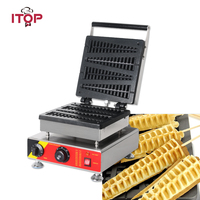 Itop Commercial Electric Waffle Maker , Christmas Tree Pine Cake Iron Waffle Oven Non Stick Snack Maker Machine 110v/220v