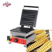 ITOP Коммерческая электрическая вафельница, вафельница для рождественской елки из сосны, вафельница, антипригарная машина для закусок 110 В/220 В
