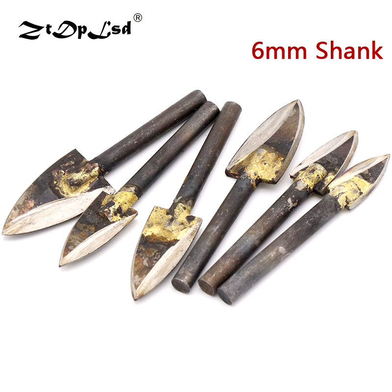 1Pcs 6mm Shank Welding Milling Cutter Wood Carving Knife Cutters Root Heads Optic Grinders Grinding Woodworking Engraving Tools