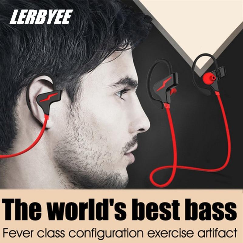 все цены на Lerbyee Bluetooth Earphone Ear-Hook Bluetooth Headset Wireless Binaural Stereo CSR Waterproof Suitable For Sports Gym Jogging онлайн