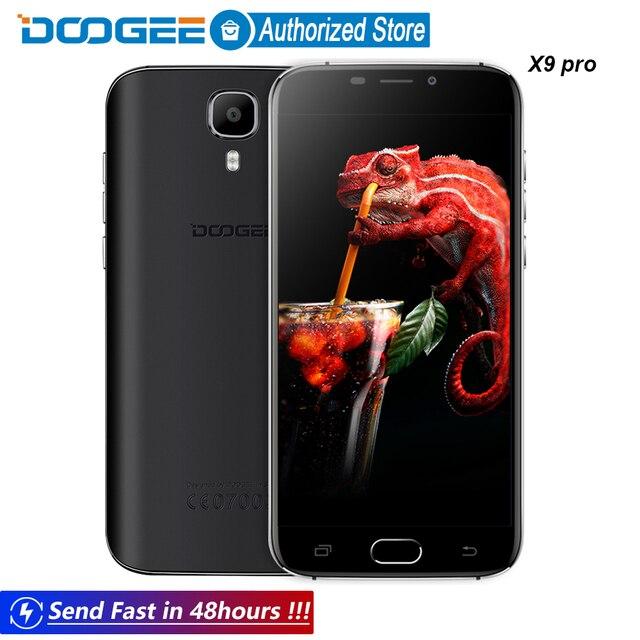 Doogee X9 Pro LTE Отпечатков Пальцев мобильные телефоны 5.5 Дюйма HD 2 ГБ + 16 ГБ Android 6.0 Dual SIM MTK6737 Quad Core 8.0MP 3000 мАч WCDMA GPS