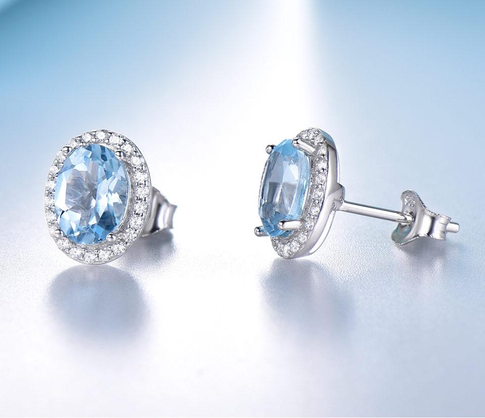UMCHO Sky blue topaz 925 sterling silver jewelry set for women S010B-1 PC (8)