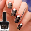 1 Bottle 15ml Born Pretty Nail Stamping Polish Black Nail Polish DIY Nail Varnish Stamping Nail Art Tools